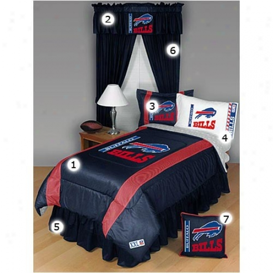 Buffalo Bills Full Size Sideline Bedroom Set