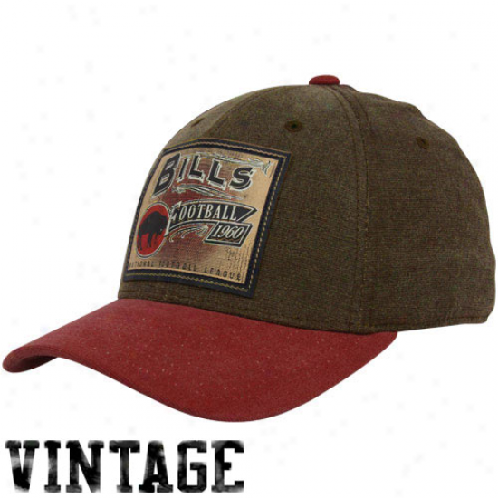 Buffalo Bills Hat : Reebok Buffalo Bills Brown Pro Shape Flex Hat