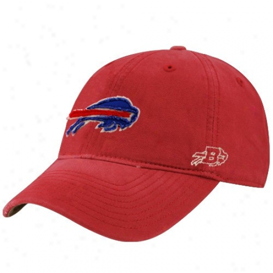 Buffalo Bills Hat : Reebok Buffalo Bills Red Distressed Slouch Hat