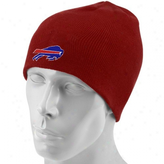 Buffalo Bills Cardinal's office : Reebok Buffalo Bills Youth Red Basic Logo Knit Beanie