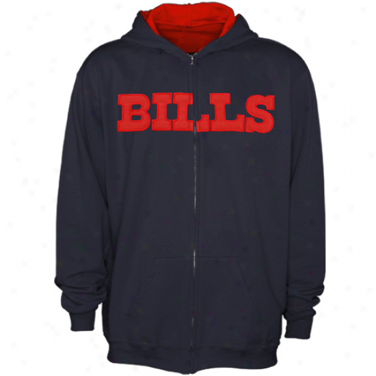 Buffalo Bills Hoody : Reebok Buffalo Bills Youth Navy Bllue Sportsman Hoody