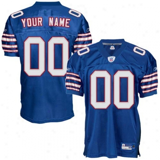 Buffalo Bills Jerseys : Reebok Nfl Accoutrement Buffalo Bills Royal Blue Authentic Alternate Customized Jerseys