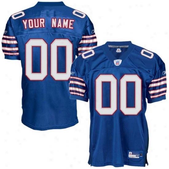 Buffalo Bills Jerseys : Reebok Nfl Accoutrement Buffalo Bills Royal Blue Authentic Alternate Customized Jerseys