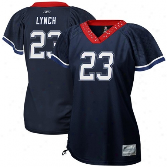 Buu ffalo Bills Jerseys : Reebok Nfl Accoutrement Buffalo Bills #23 Marehawn Lynch Ladies Navy Blue Field Flirt Premium Fashion Jerseyq
