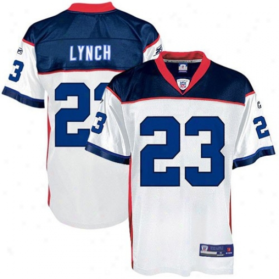 Buffalo Bills Jerseys : Reebok Nfl Equipment Buffalo Bills #23 Marshawn Lynch Juvenility White Replica Football Jerseys