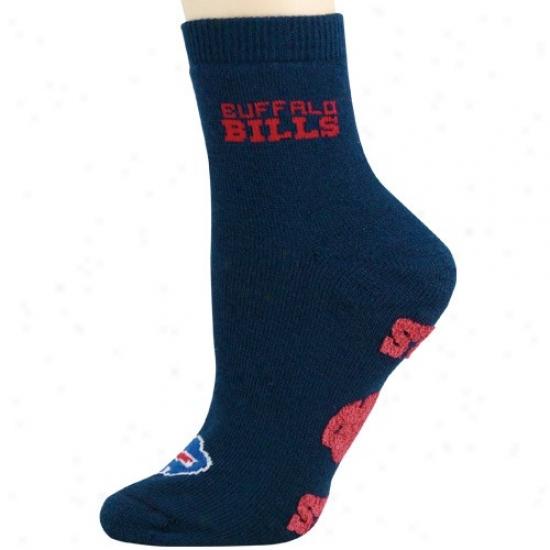 Buffalo Bills Ladiess Navy Blue Slipper Socks