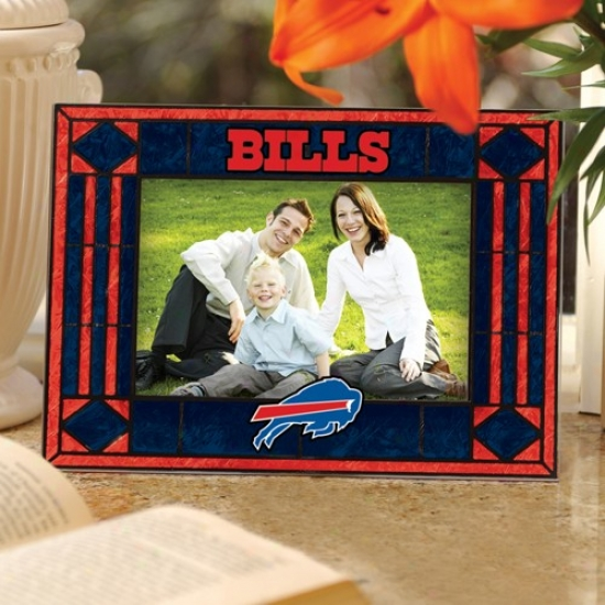 Buffalo Bills Nagy Blue Art-glass Horizontal Picture Frame