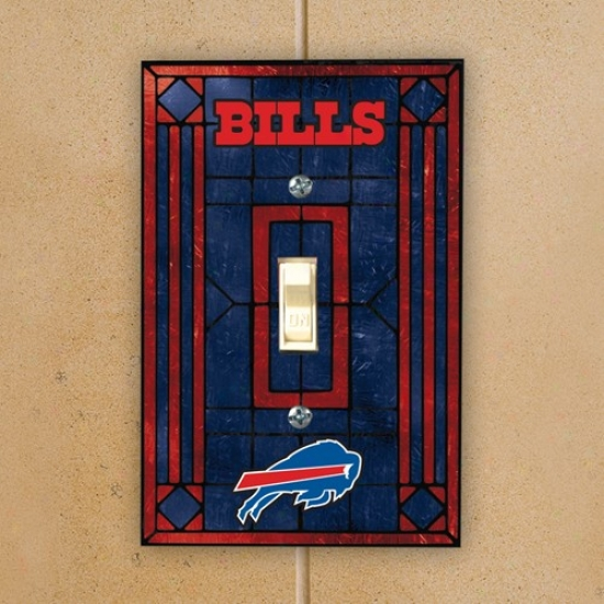 Buffalo Bills Ships Blue Art-glass Switch Plate Screen