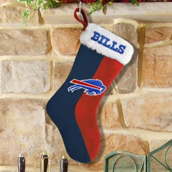 Buffaloo Bills Navy Blue-red Logo Plush Stocking