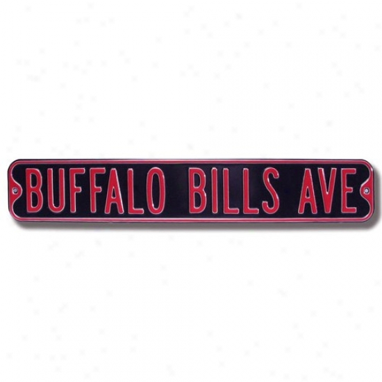 Buffalo Bills Navy Blue Steel Street Sign