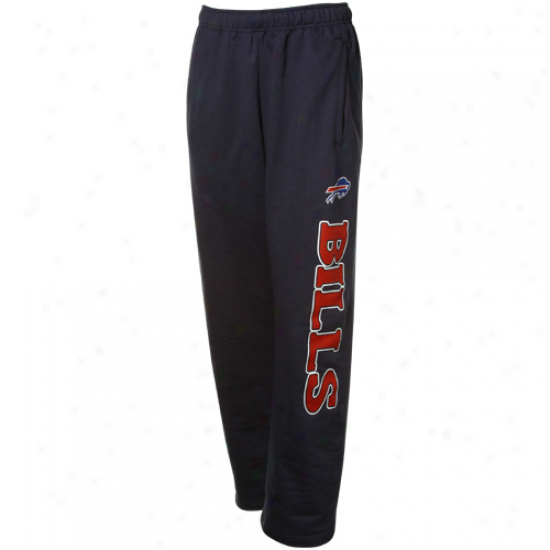 Buffalp Bills Stuff: Reebok Buffalo Bills Navy Blue Post Game Fleece Sweatpants