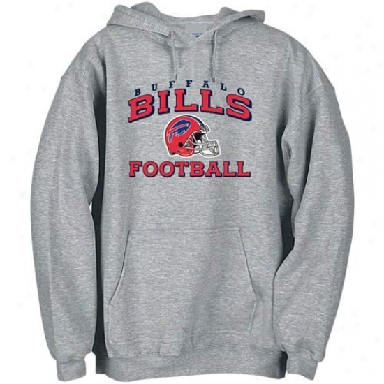 Buffalo Bills Sweat Shirts : Reebok Buffalo Bills Ash Stacked Helmet Sweat Shirta