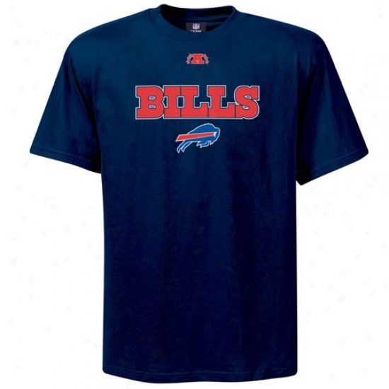 Buffalo Bills T Shirt : Buffalo Bills Navy Blue Critical Victory Iii T Shirt