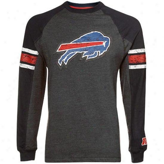 Buffalo Bills Tees : Buffalo Bills Charcoal Victory Pride Ii Annual rate  Long Sleeve Raglan Tees