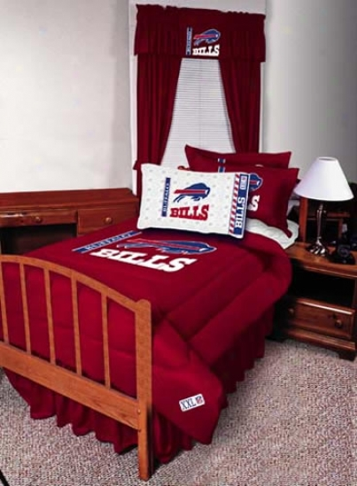 Buffalo Bills Twin Size Bed Skirt