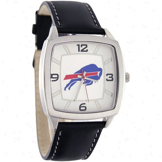 Buffalo Bills Watch : Buffalo Bills Retro Watch W/ Leather Band