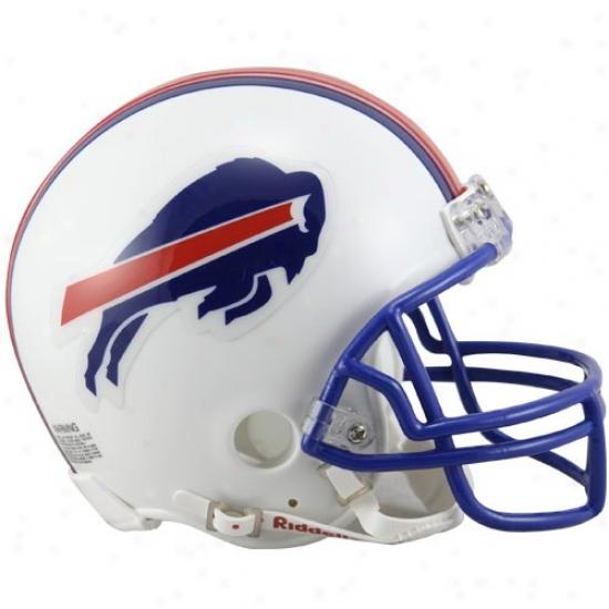 Buffalo Bills White 1976-1983 Throwback Mini Helmet
