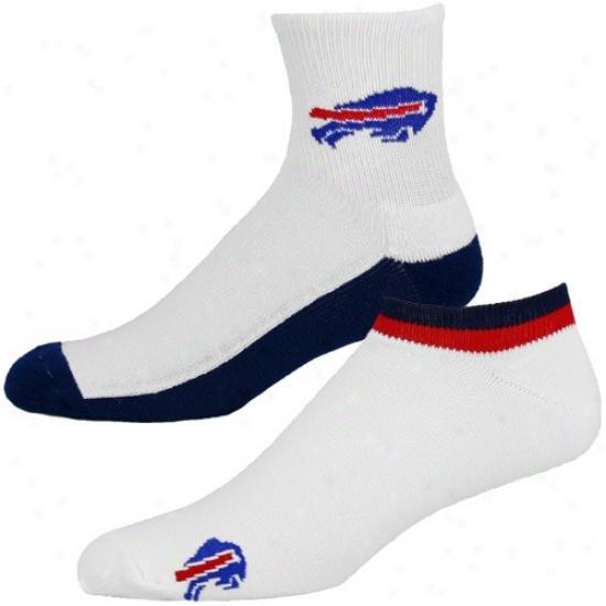 Buffalo Bills White-navy Blue Two-pack Socks