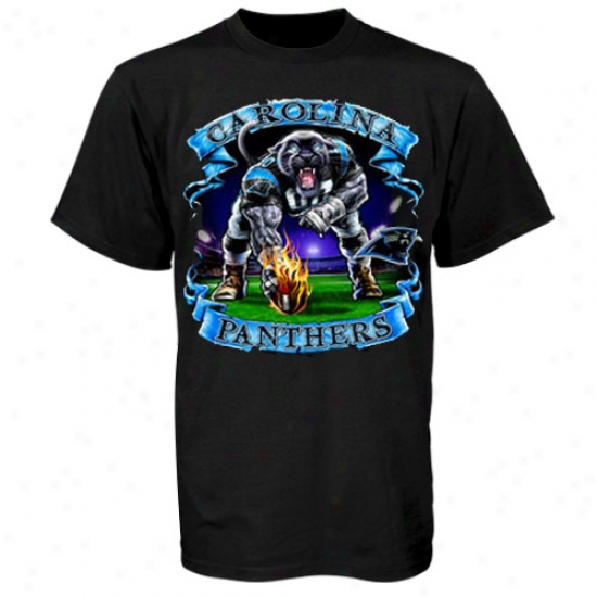 Carolina Panther Attire: Carolina Panther Black Banner T-shirt