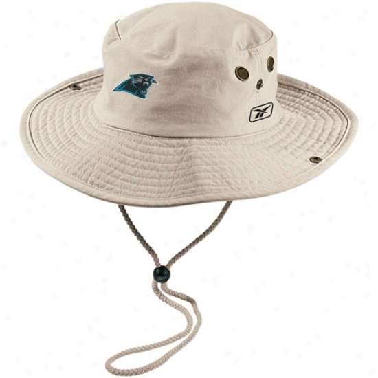 Carolina Panther Cap : Reebok Caropina Panther Khaki Safari Fitted Cap