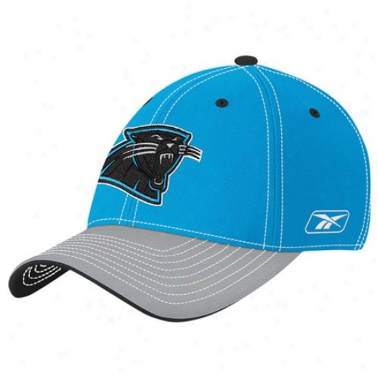 Carolina Panther Cap : Reebok Carolina Panther Panther Blue Youth Player 2nd Season Flex Suitable Cap