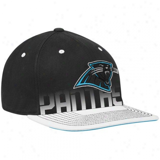 Carolina Panther Caps : Reebok Carolina Panther Youth Black Pro Shape Player Flat Brim Flex Caps