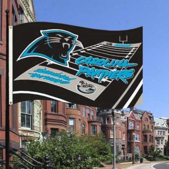 Carolina Panther Flag : Carolin aPanther 3' X 5' Field Flag