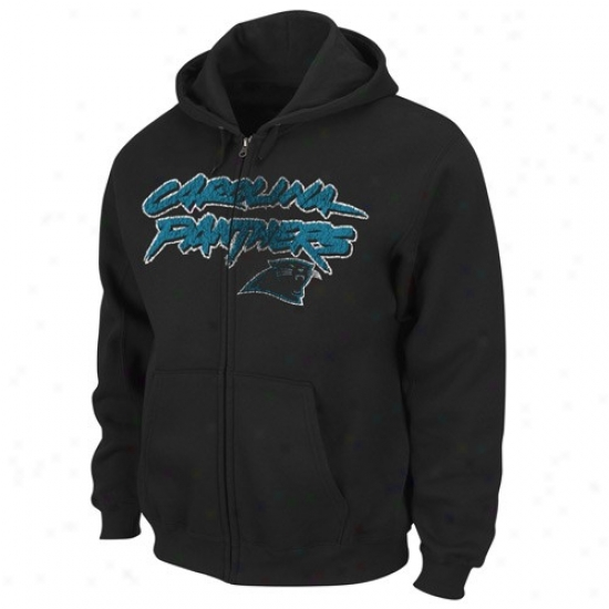 Carolina Panther Fleece : Carolina Panther Black Touchback Iii Full Zip Fleece