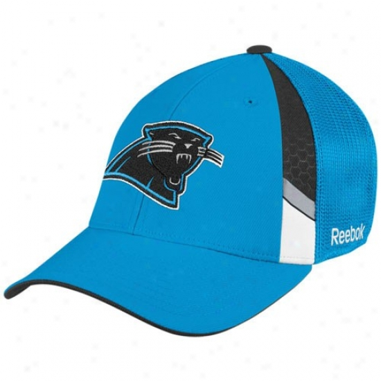 Carolina Panther Gear: Reebok Carolina Panther Light Blue  Draft Appointed time Flex Fit Hat