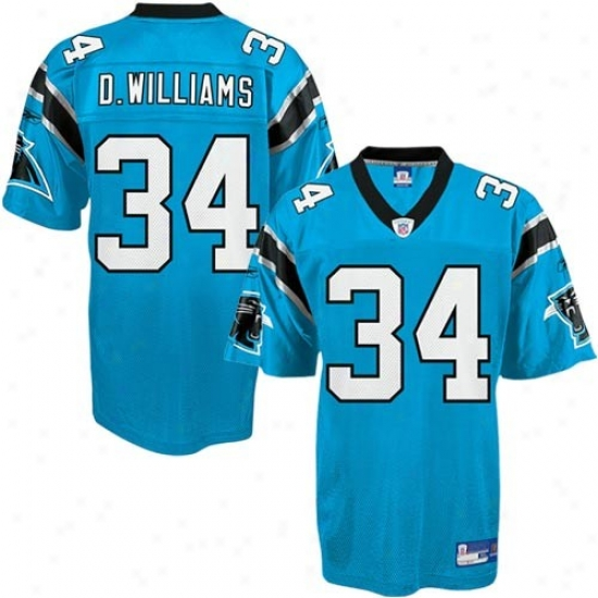 Carolina Panther Jersey : Reebok Carolina Panther #34 Deangelo Williams Light Blue Replica Football Jersey