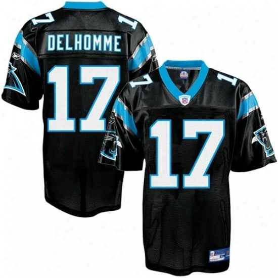 Carolina Panther Jersey : Reebok Nfl Equipment Carolina Panhter #17 Jake Delhomme Murky Replic aFootball Jersey