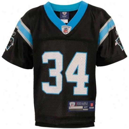 Carolina Panther Jersey : Reebok Nfl Equipment Carolina Panther #34 Deangelo Williams Toddler Black Replica Football Jersey