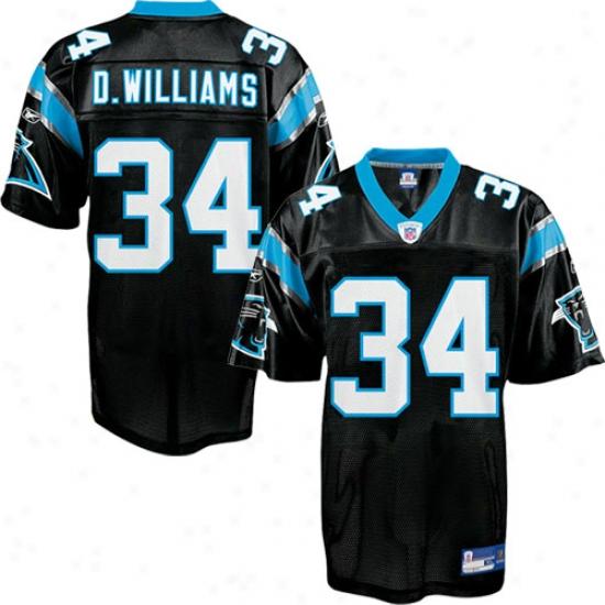 Carolina Panther Jerseys : Reebok Nfl Equipment Carolina Panther #34 Deangelo Williams Black Replica Football Jerseys