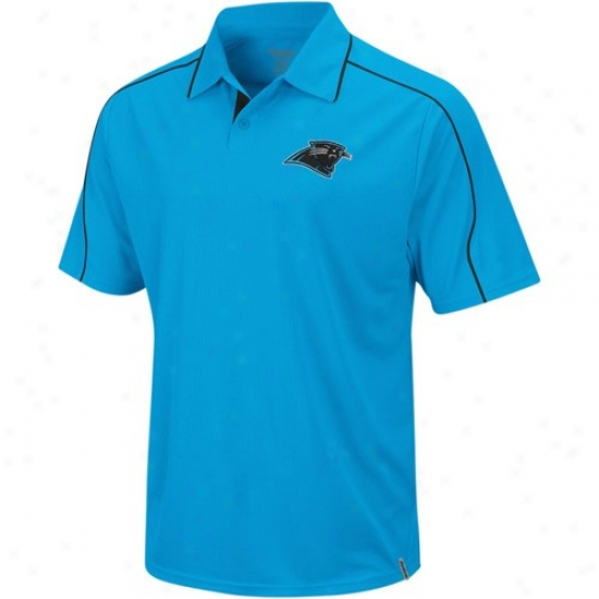 Carolina Panther Polo : Reebok Carolina Panther Panther Blue Active Polo