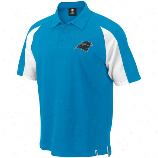 Carolina Panther Polo : Reebok Carolina Panther Panther Pedantic  Stealth Point Polo