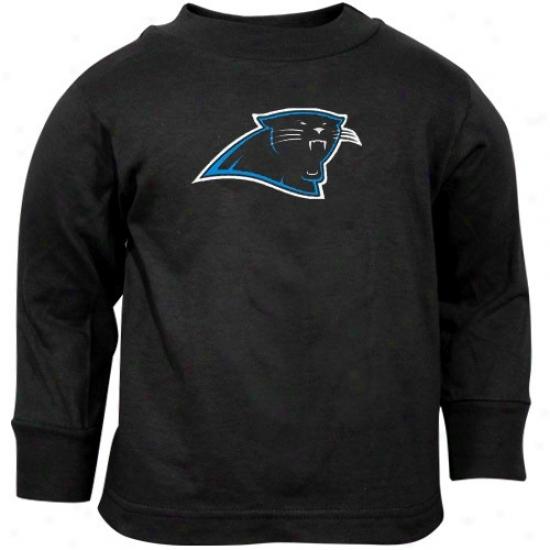 Carolina Panther Shirt : Reebok Carolina Panther Toddler Black Prime Logk Long Sleeve Shirt