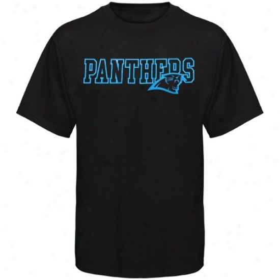 Carolina Panther Shirt : Reebok Carolina Panther Black Fashion Shirt