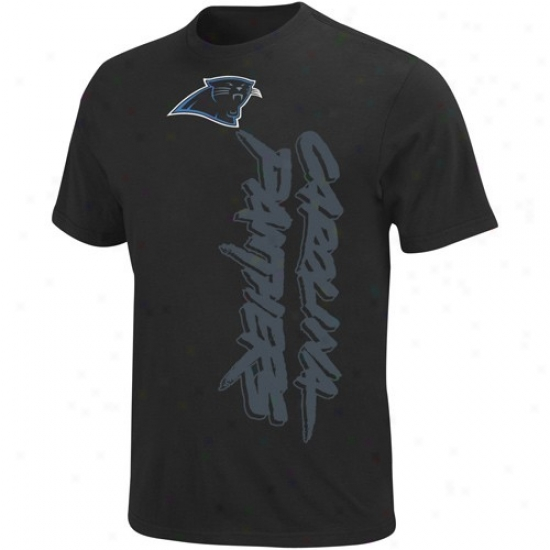 Carolina Panther T-shirt : Carolina Panther Black All-time Great T-shirt