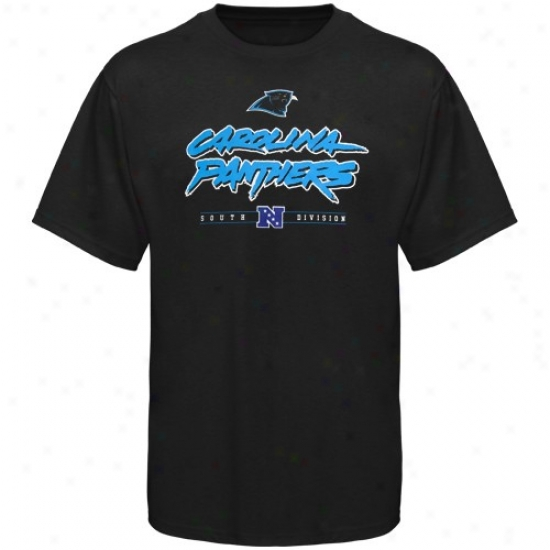 Carolina Panther Tees : Carolina Panther Black Critical Victory Tees