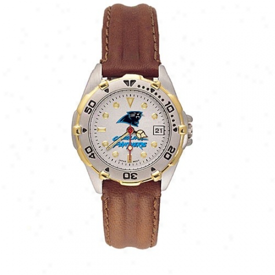 Crolina Panther Watch : Carolina Panther Ladies All Star Watch W/leather Band