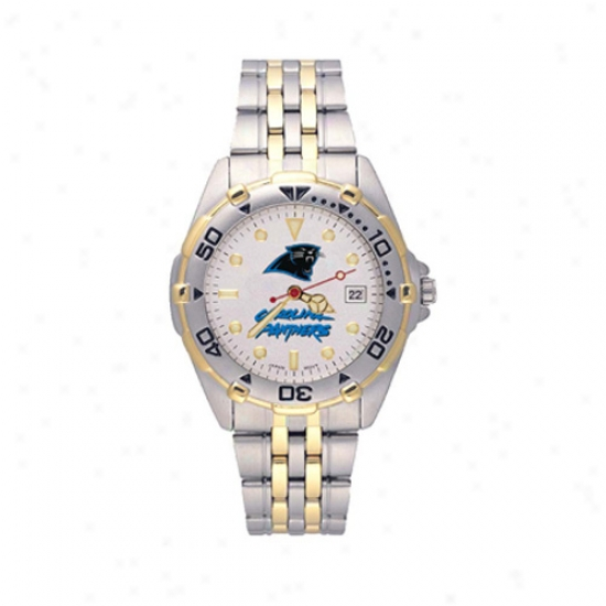 Carolina Panther Watch : Carolina Panther Men's All-star Watch W/stainless Steel Band