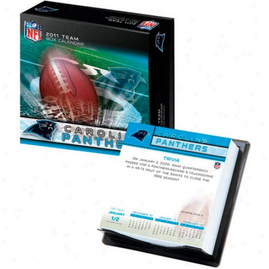 Carolina Panthers 2011 Boxed Team Calendar