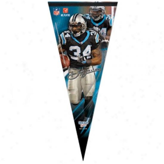 Carolina Panthers #34 Deangelo Williams Panther Blue 17'' X 40'' Mimic Felt Pennant