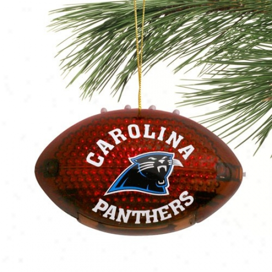 Carolina Panthers 4'' Acrylic Light-up Football Ornament