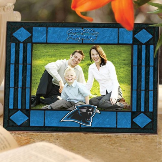 Carolina Panthers Art-glass Horizontal Picture Frame