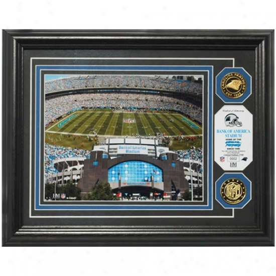 Carolina Panthers Bank Of America Stadium 24kt Gold Photomint