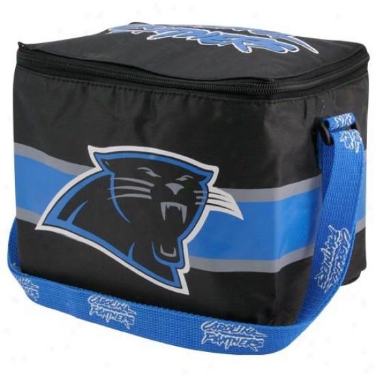Carolina Panthers Blakc Insulated 12 Pack Cooler