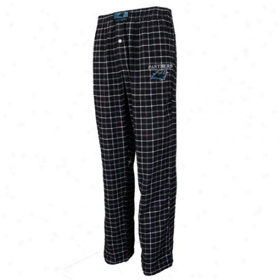 Carolina Panthers Black Plaid Gridiron Flannel Pants