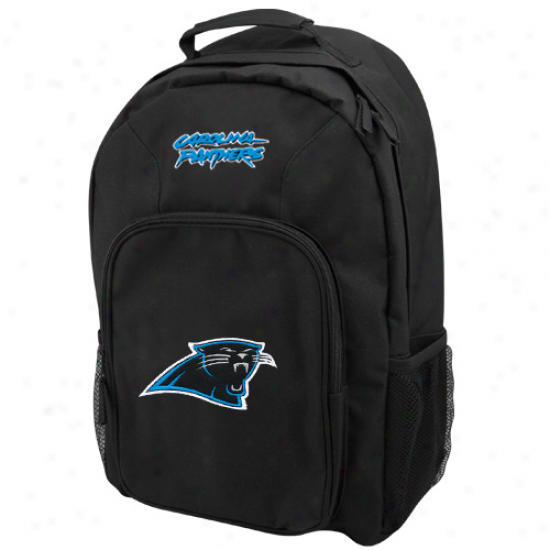Carolina Panthers Black Southpaw Backpack