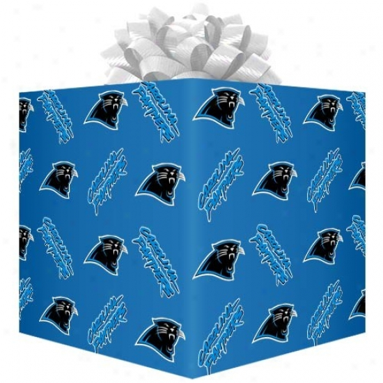 Carolina Panthers Blue Logo Gift Wrap Paper